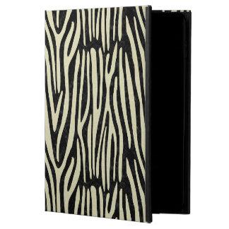 CAPA PARA iPad AIR 2  MÁRMORE SKIN4 PRETO & LINHO BEGE (R)