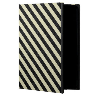 CAPA PARA iPad AIR 2  MÁRMORE STRIPES3 PRETO & LINHO BEGE (R)