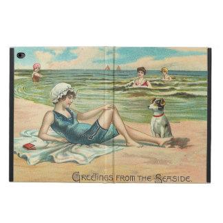 Capa Para iPad Air 2 Menina do roupa de banho da praia do Victorian