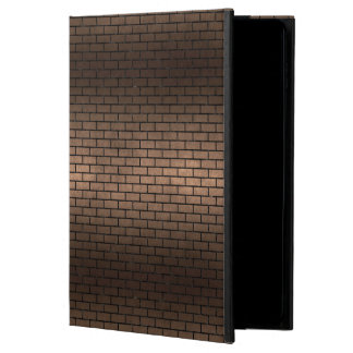 CAPA PARA iPad AIR 2  METAL PRETO DO MÁRMORE BRICK1 & DO BRONZE (R)