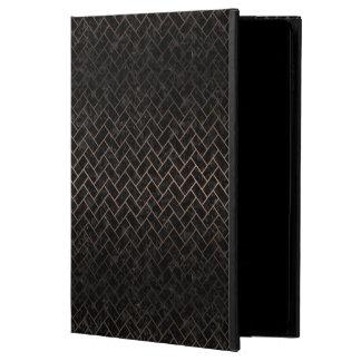 CAPA PARA iPad AIR 2  METAL PRETO DO MÁRMORE BRICK2 & DO BRONZE