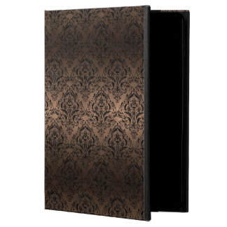 CAPA PARA iPad AIR 2  METAL PRETO DO MÁRMORE DAMASK1 & DO BRONZE (R)