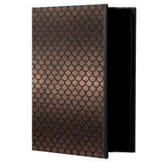 CAPA PARA iPad AIR 2  METAL PRETO DO MÁRMORE SCALES1 & DO BRONZE (R)