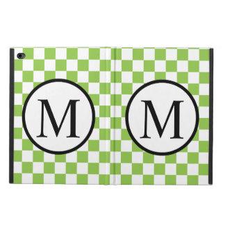 Capa Para iPad Air 2 Monograma simples com o tabuleiro de damas do