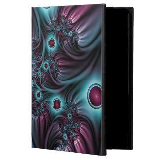Capa Para iPad Air 2 Na arte azul do Fractal do abstrato do rosa da