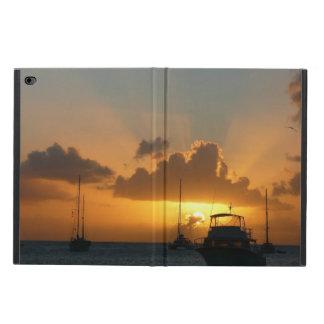 Capa Para iPad Air 2 Navios e Seascape tropical do por do sol