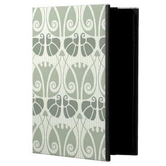 Capa Para iPad Air 2 Nouveau da arte, cerceta, bege, floral, époque do