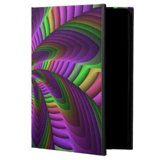 Capa Para iPad Air 2 O néon colore o teste padrão colorido louco