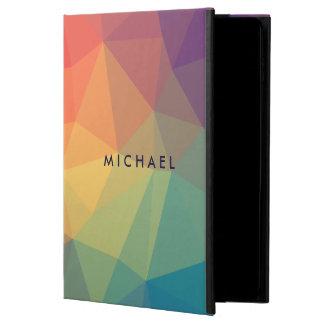 Capa Para iPad Air 2 O triângulo poligonal elegante colorido adiciona