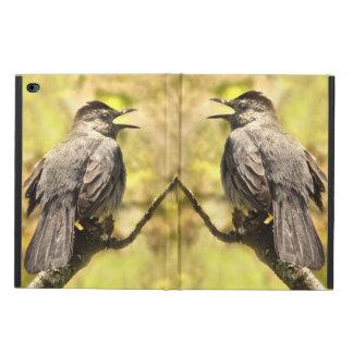 Capa Para iPad Air 2 Os Catbirds cinzentos do canto iPad de Powis