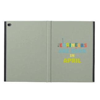 Capa Para iPad Air 2 Os engenheiros são em abril Z5h58 nascidos