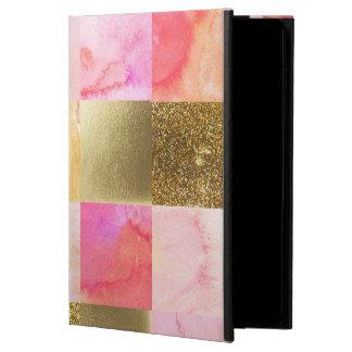 Capa Para iPad Air 2 ouro, pastels, cores de água, quadrados, colagem,