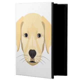 Capa Para iPad Air 2 Ouro Retriver do filhote de cachorro da ilustração