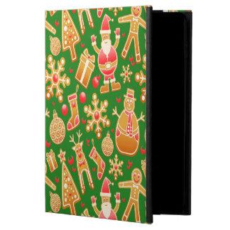 Capa Para iPad Air 2 Papai noel e pão-de-espécie festivos do boneco de