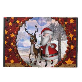 Capa Para iPad Air 2 Papai Noel engraçado com rena