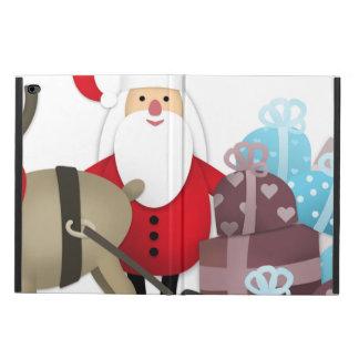 Capa Para iPad Air 2 Papai noel & sua rena com presentes