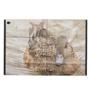 Capa Para iPad Air 2 Pato selvagem da lagoa do woodgrain da casa do