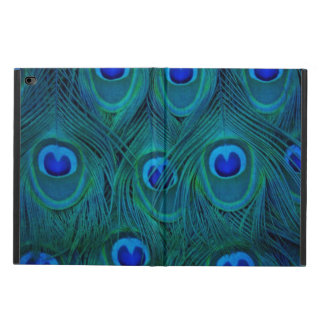 Capa Para iPad Air 2 Pena parisiense do pavão do verde da cerceta do