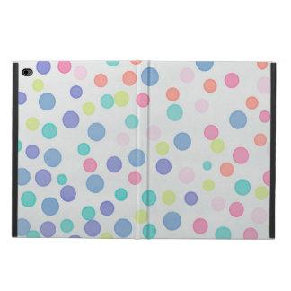 Capa Para iPad Air 2 Pontos multicoloridos dos confetes no cinza claro