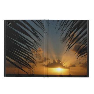 Capa Para iPad Air 2 Por do sol com o Seascape tropical das frondas da