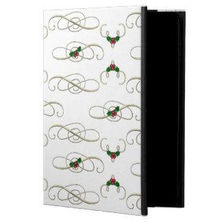 Capa Para iPad Air 2 Redemoinhos bonito & azevinho do Natal