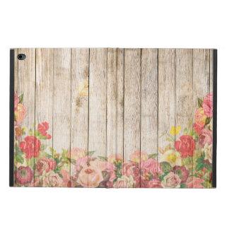 Capa Para iPad Air 2 Rosas românticos rústicos do vintage de madeira