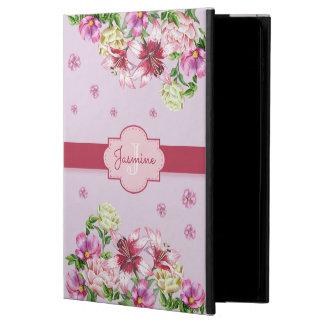 Capa Para iPad Air 2 Roxo floral do lírio & da peônia