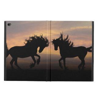 Capa Para iPad Air 2 Silhueta dos cavalos selvagens