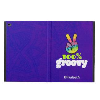 Capa Para iPad Air 2 Sinal de paz Groovy da mão do arco-íris de 100%