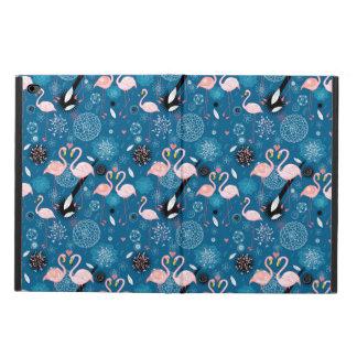 Capa Para iPad Air 2 Teste padrão bonito dos flamingos das flores