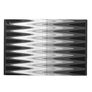 Capa Para iPad Air 2 Teste padrão cinzento branco preto do ziguezague
