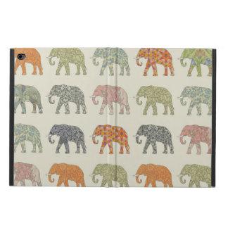 Capa Para iPad Air 2 Teste padrão colorido do elefante