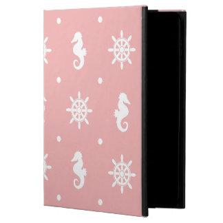 Capa Para iPad Air 2 Teste padrão coral cor-de-rosa náutico