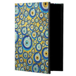 Capa Para iPad Air 2 Teste padrão de vidro azul grego do amuleto do