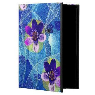 Capa Para iPad Air 2 Teste padrão floral artística roxo e azul bonito