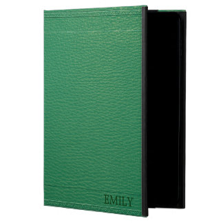 Capa Para iPad Air 2 Textura elegante do olhar do couro do Fox do verde
