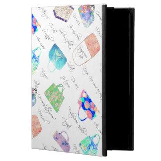Capa Para iPad Air 2 Tipografia floral Pastel das ilustrações da
