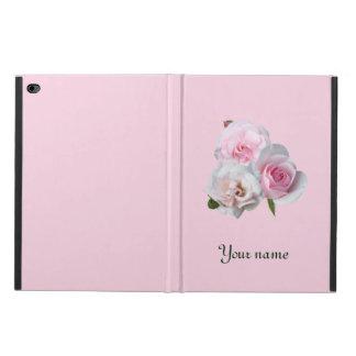Capa Para iPad Air 2 Três rosas cor-de-rosa. Adicione seu texto