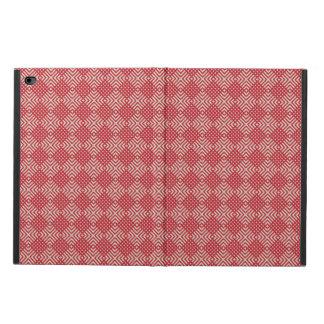 Capa Para iPad Air 2 Vermelho carmesim & creme de Cornsilk