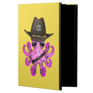 Capa Para iPad Air 2 Xerife cor-de-rosa bonito do polvo do bebê