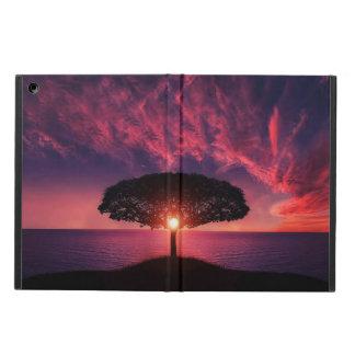 Capa Para iPad Air a árvore, o sol e o lago vêem a caixa do ar do