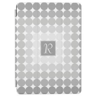 Capa Para iPad Air A cinza moderna circunda o monograma
