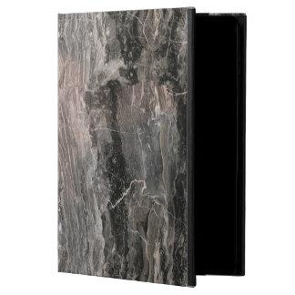 Capa Para iPad Air A cinza na moda tonifica a pedra de mármore áspera