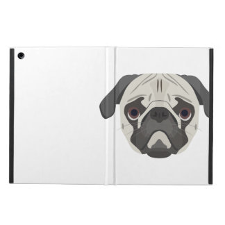 Capa Para iPad Air A ilustração persegue o Pug da cara
