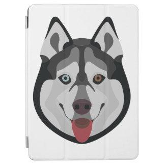 Capa Para iPad Air A ilustração persegue o rouco Siberian da cara