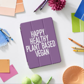 Capa Para iPad Air A planta saudável feliz baseou o Vegan (branco)