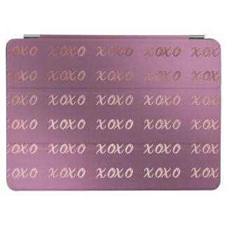 Capa Para iPad Air a tipografia cor-de-rosa do ouro do falso abraça e