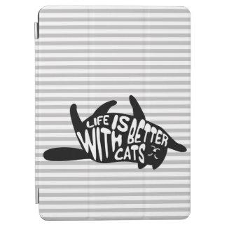 Capa Para iPad Air A vida é melhor com tipografia do divertimento dos