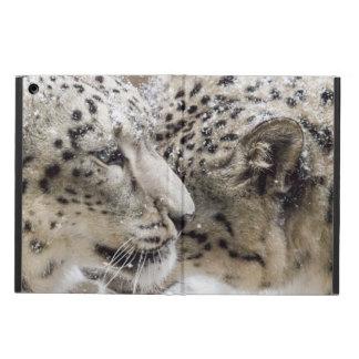 Capa Para iPad Air Afago do leopardo de neve