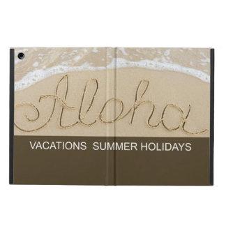 Capa Para iPad Air Aloha palavra da areia